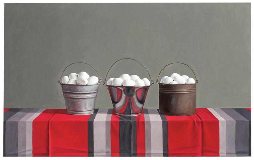 James Moore - Three Buckets With Eggs-1992
