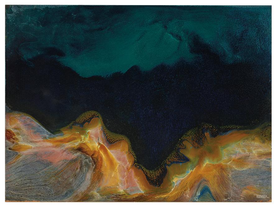 Leonardo Nierman-Untitled (Abstract)-1970