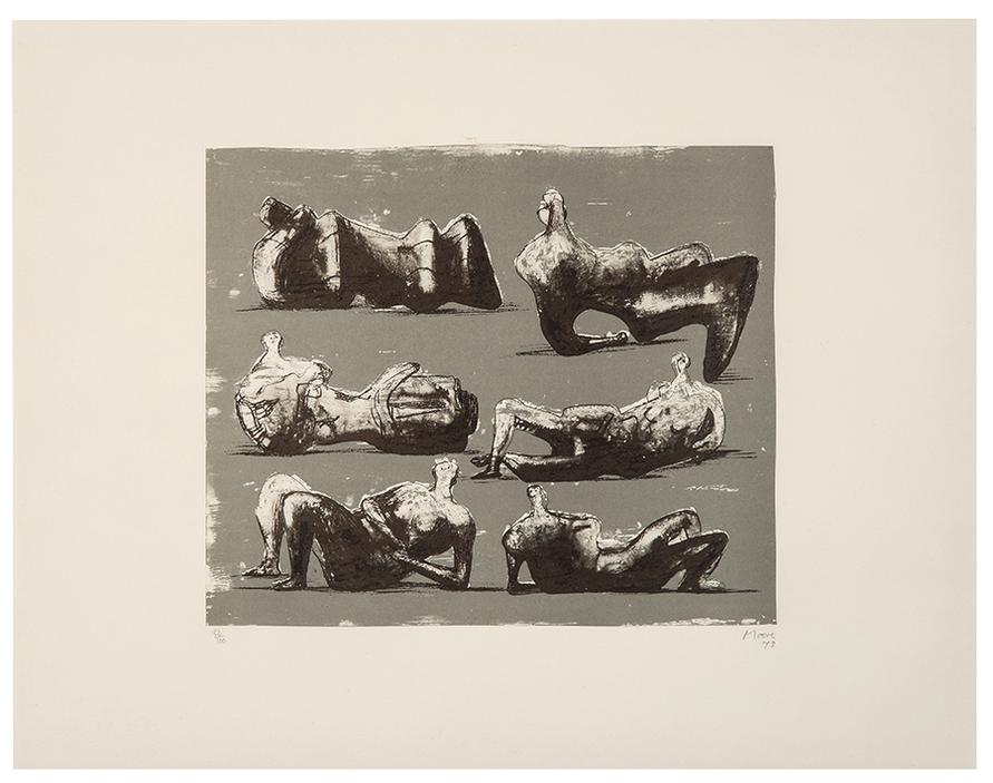 Henry Moore-Six Reclining Figures-1973
