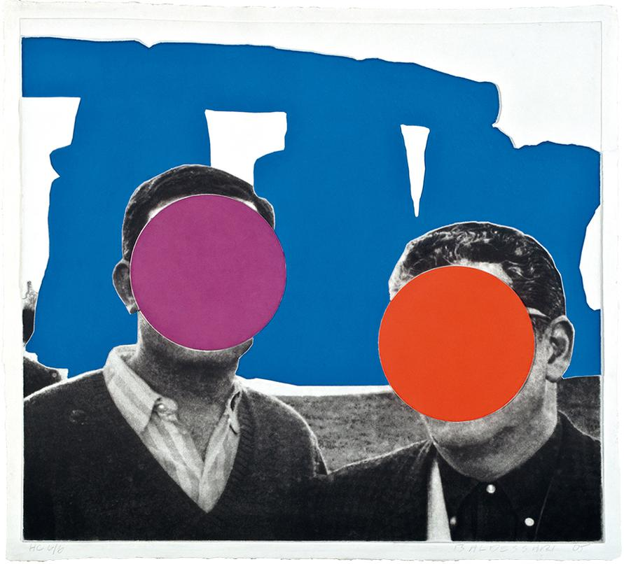 John Baldessari-Stonehenge (With Two Persons) Blue-2005