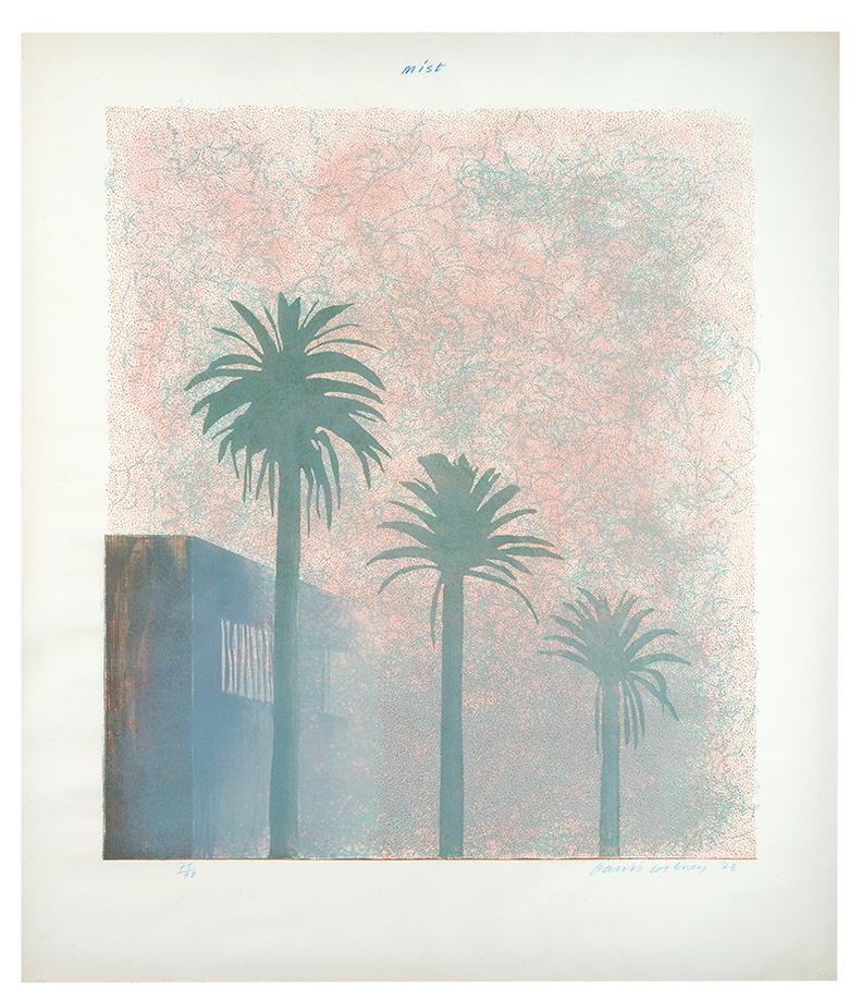 David Hockney-Mist (From Weather Series)-1973