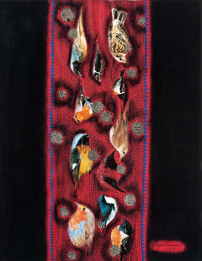 Yayoi Kusama-Birds-1981