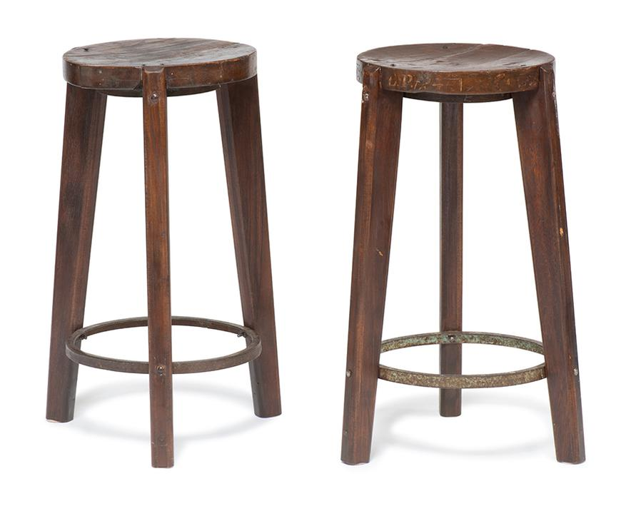 Pierre Jeanneret-Round Stools From Chandigarh (2)-1965