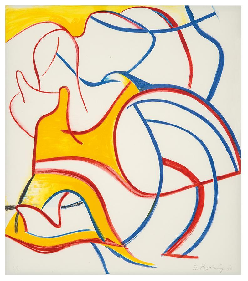 Willem de Kooning-Untitled (From Quatre Lithographies Portfolio)-1986