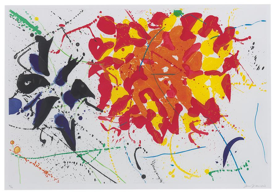 Sam Francis-Untitled Red-1992