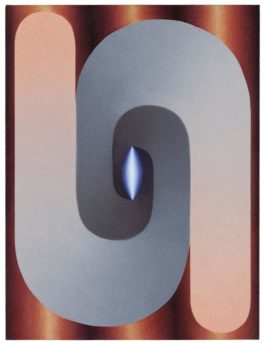 Loie Hollowell - Linked Lingam In Blue, Gray, Pink And Copper-2018