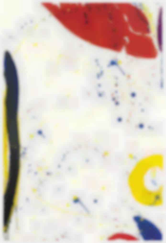 Sam Francis-Untitled (Bright Ring Drawing)-1964