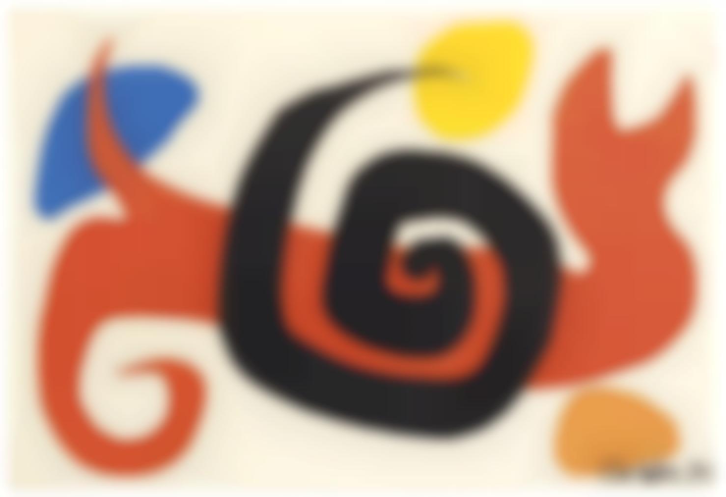 Alexander Calder-Serpent Rouge Et Serpent Noir-1970