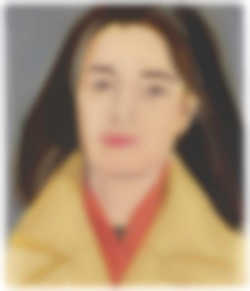 Alex Katz-Study For The Red Scarf (Ada In Polo Coat)-1976