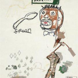 Jean-Michel Basquiat-Untitled (Spoon)-1988