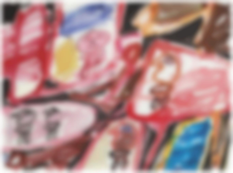 Jean Dubuffet-Site Avec 5 Personnages-1981