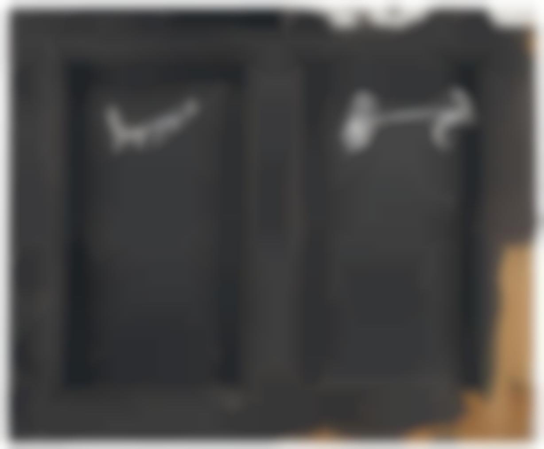 Antoni Tapies-Parpella Sobre Negre-1985