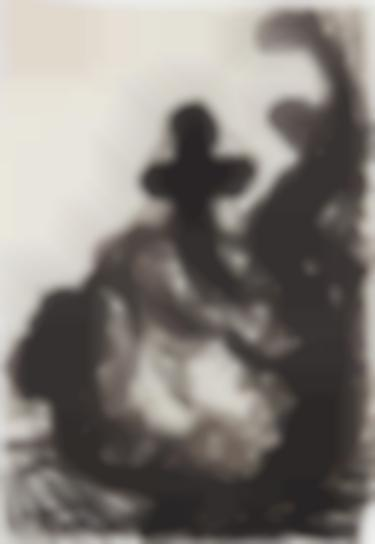 Georg Baselitz-Ohne Titel (Kreuz) (Untitled (Cross))-1960