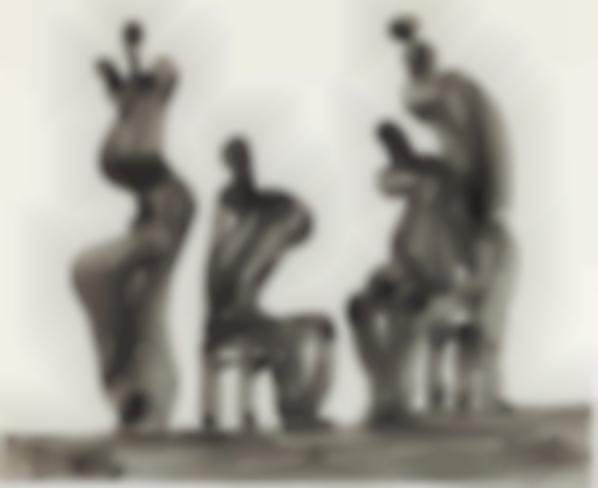 Henry Moore-Four Figures Seated And Standing-1980