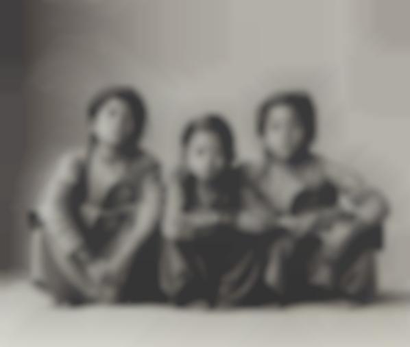 Irving Penn-Three Squatting Sisters, Nepal-1967