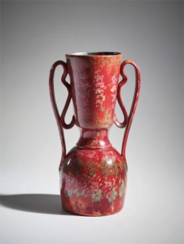 George Ohr - Tall Two-Handled Vase-1895