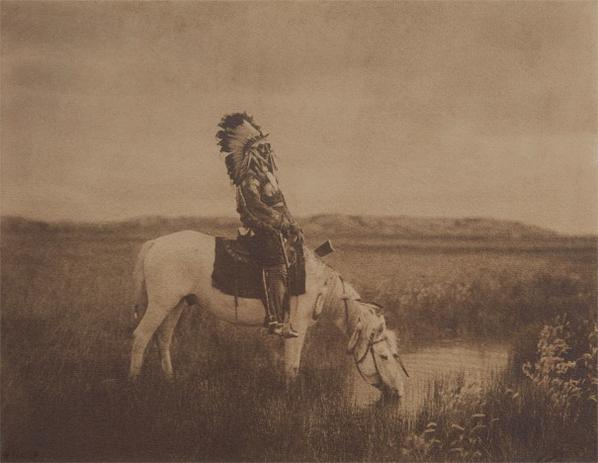 Edward S. Curtis-An Oasis In The Badlands-1905