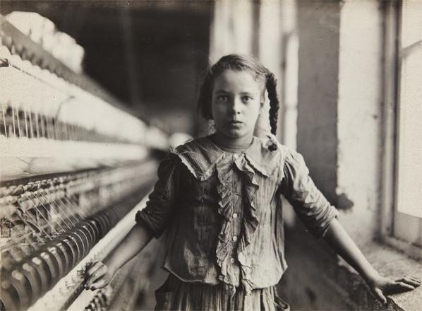 Lewis Wickes Hine-Ten Year Old Spinner In N. Carolina Cotton Mill-1908