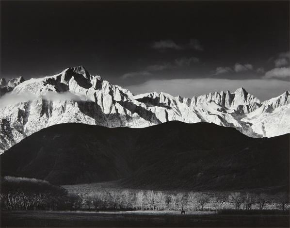 Ansel Adams-Winter Sunrise, Sierra Nevada From Lone Pine California-1944
