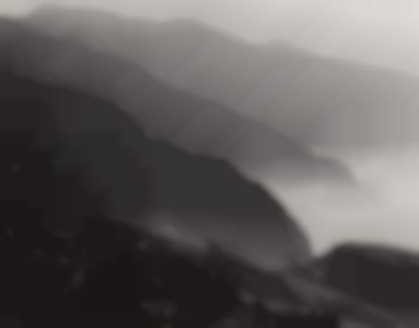 Ansel Adams-California Coast South Of Big Sur-1950