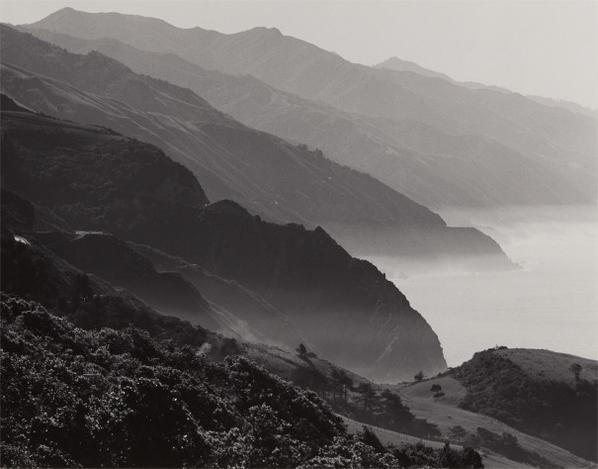 Ansel Adams-California Coast South Of Big Sur-1950
