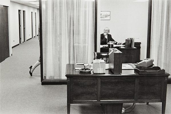 Henri Cartier-Bresson-Manhattan, New York, Usa (Bank Officer And His Secretary)-1960