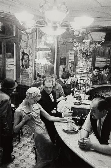 Frank Horvat-Paris, For Jardin Des Modes, At Le Chien Qui Fume-1957