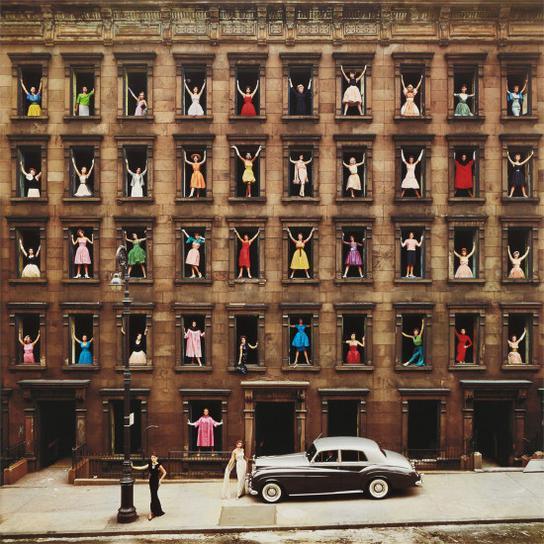 Ormond Gigli-Girls In Windows, New York City-1960