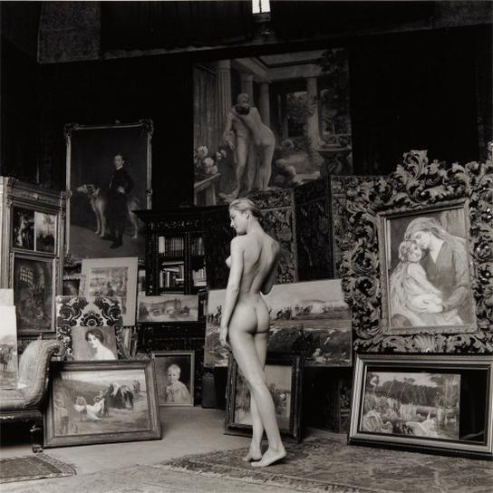 Jeanloup Sieff-Nu Pompier, Paris-1956