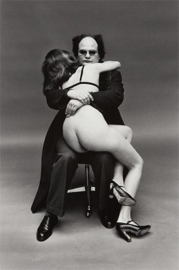 Helmut Newton-Xavier Moreau And Friend, Paris-1974
