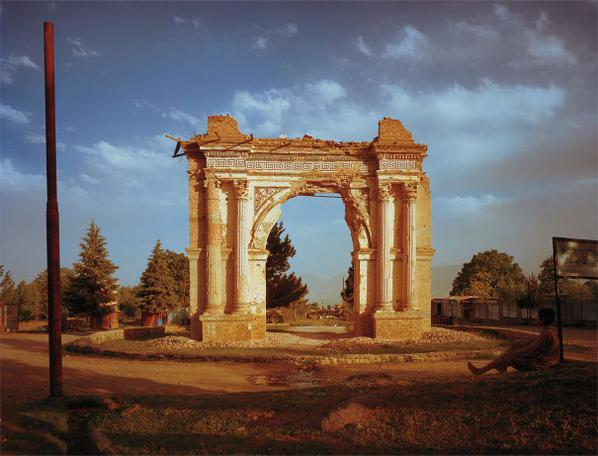 Simon Norfolk-King Amanullahs Victory Arch Built To Celebrate The 1919 Independence From The British. Paghman, Kabul Province-2003