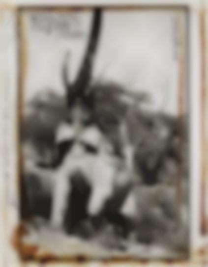 Peter Beard-Elephant Reaching For The Last Branch On A Tree, Kenya-1960