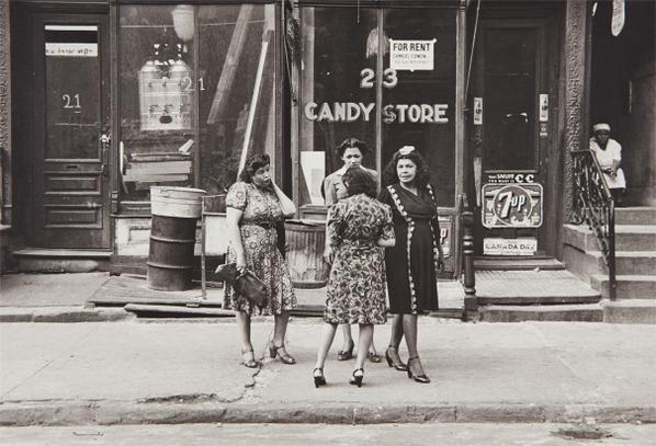 Helen Levitt-N.Y.C. (Women In Front Of Candy Store)-1945