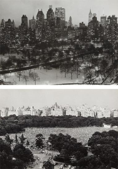 Ruth Orkin-View From My Window, Central Park South 1956 And Philharmonic Concert, Sheep Meadow, Central Park-1975