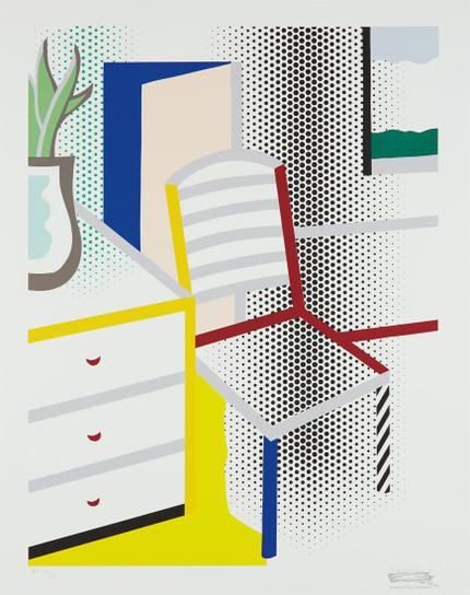 Roy Lichtenstein-Interior With Chair, From Leo Castelli 90Th Birthday Portfolio-1997