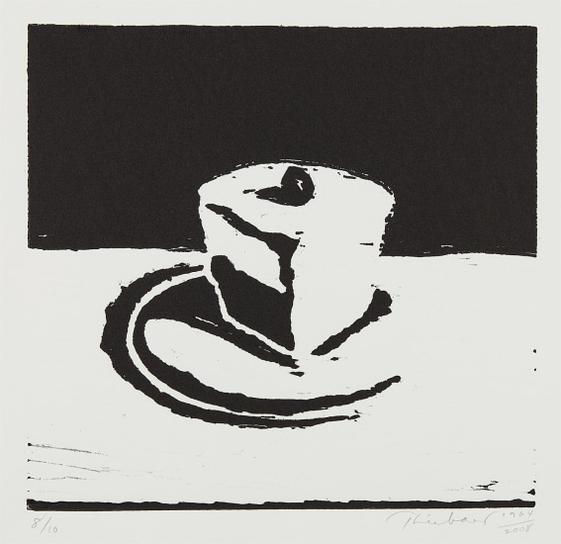 Wayne Thiebaud-Chocolate Pie-2008