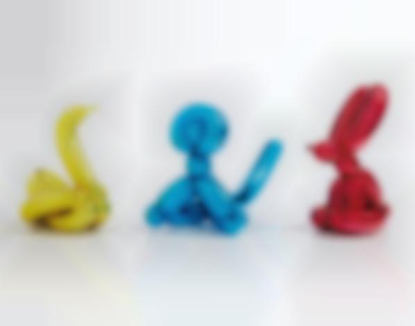 Jeff Koons-Balloon Swan (Yellow); Balloon Monkey (Blue); And Balloon Rabbit (Red)-2017