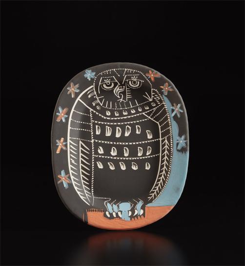 Pablo Picasso-Mat Owl (Hibou Mat)-1955