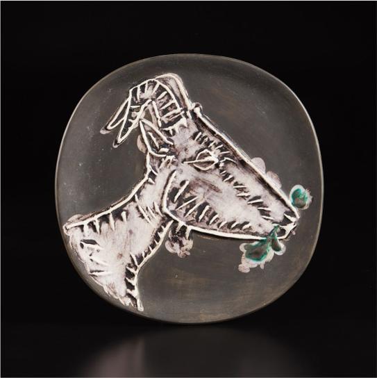 Pablo Picasso-Goats Head In Profile (Tete De Chevre De Profil)-1950