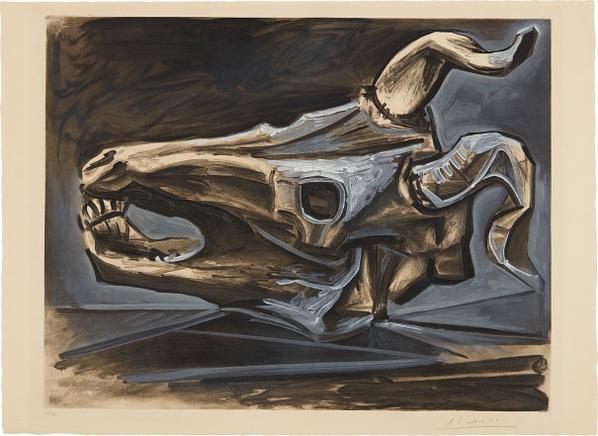 Pablo Picasso-After Pablo Picasso - Le Crane De Chevre Sur La Table (Goat Skull On The Table)-1953