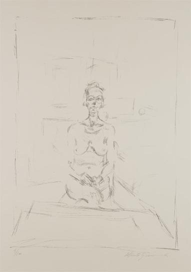 Alberto Giacometti-Nu Assis (Seated Nude)-1965