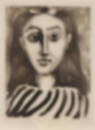 Pablo Picasso-Tete De Jeune Fille (Head Of A Young Girl)-1949