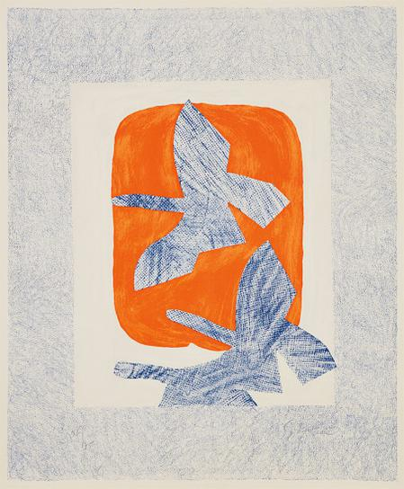 Georges Braque-Oiseaux En Vol (Bird In Flight)-1961