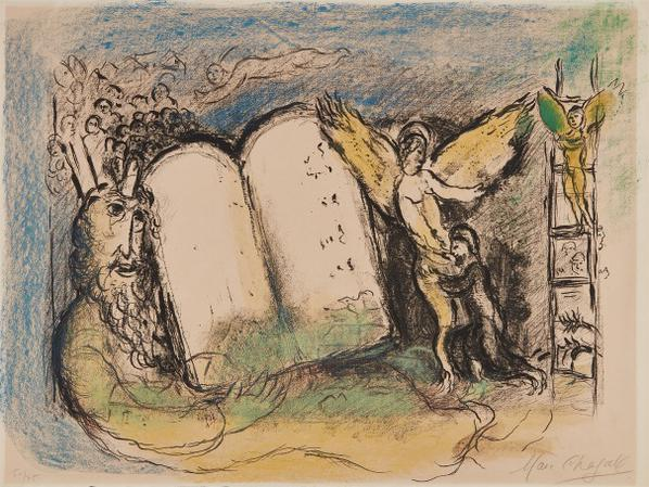 Marc Chagall-Vision Of Moses, Second State-1968