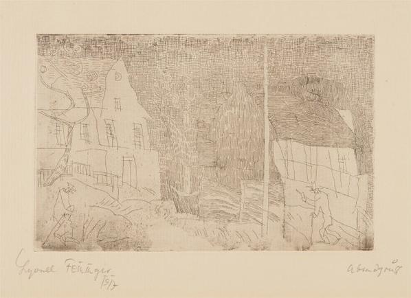 Lyonel Feininger-Abendgruss (The Evening Greeting)-1917