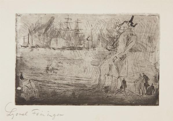 Lyonel Feininger-Der Reeder (The Privateer)-1950