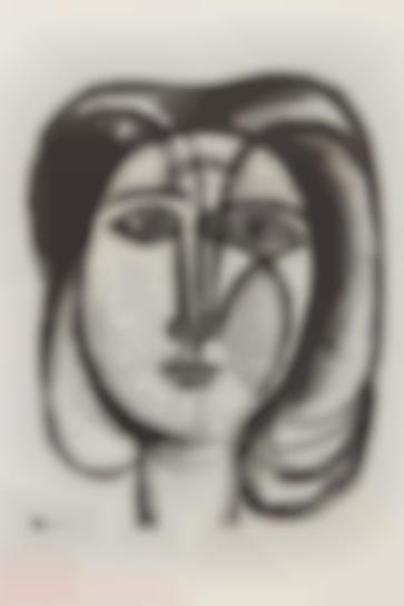 Pablo Picasso-Tete De Femme (Head Of A Woman)-1945