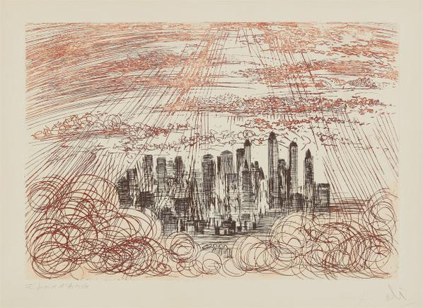 Salvador Dali-Manhattan, From New York City Suite-1964