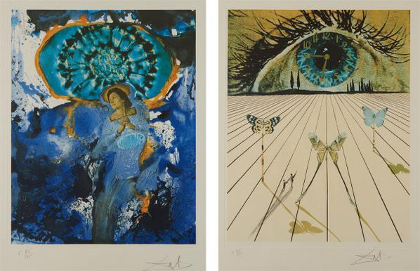 Salvador Dali-Ultra-Surrealistic Corpuscular Galutska; And The Eye Of Surrealistic Time, From Memories Of Surrealism-1971