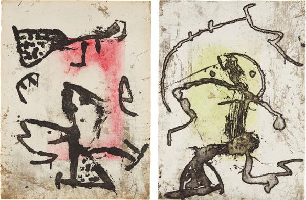 Joan Miro-Rupestres Ix; And Rupestres X (Cave Paintings IX; And Cave Paintings X)-1978